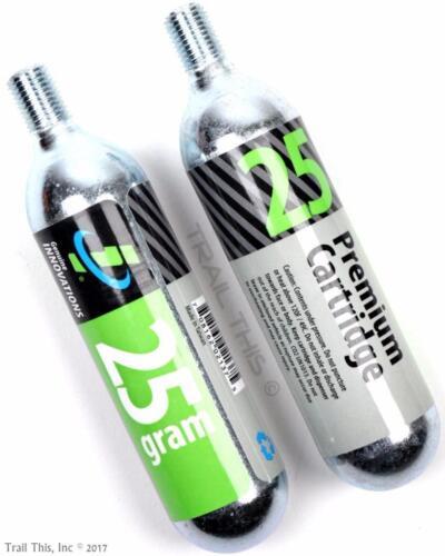 Genuine Innovations 25g Threaded CO2 Refill Cartridge MTB Road Bike Inflator