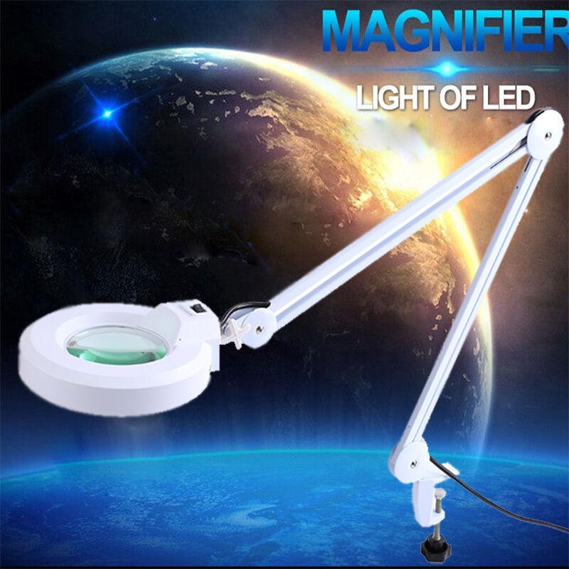 Unbranded 5x Desk Table Clamp Mount Magnifier Lamp Light ...