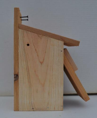 3 WESTERN BLUEBIRD BIRD HOUSES NEST..HOLE SIZE 1 9//16 ....free shipping handmade