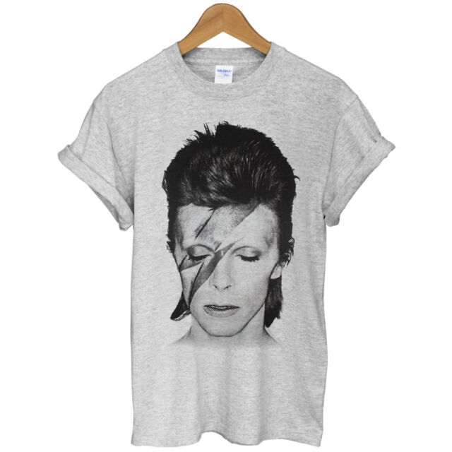 New David Bowie-Bolt 70 rock band indie celebrity Unisex Clothing t-shirt