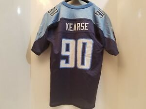 Details about TENNESSEE TITANS REEBOK AUTHENTIC NFL Jersey #90 Jevon Kearse youth Large