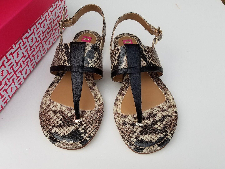 198 Elaine Turner luiza Python  Sandals Sz 6