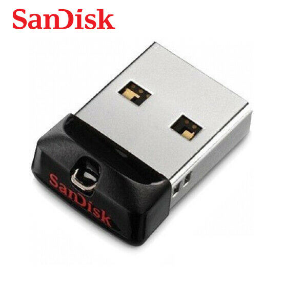 SanDisk Cruzer Fit CZ33 8GB 16G 32GB 64GB USB 2.0 Flash Capless Pen Drive