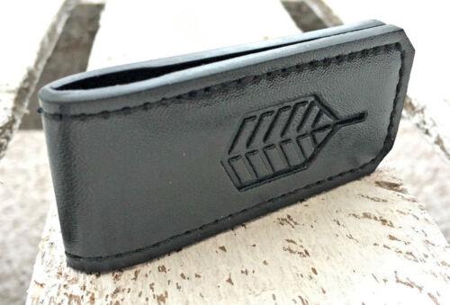Luxury Black Magnetic Synthetic Leather Slim Pocket Wallet Money Clip Holder UK
