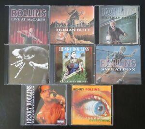 Lot 8 CD HENRY ROLLINS Spoken Word '87 - '01 Black Flag