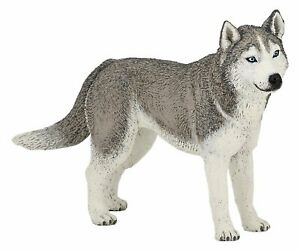 SIBERIAN-HUSKY-DOG-54035-FREE-SHIP-USA-w-25-Papo-Items