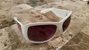 Christian Audigier Ed Hardy White Frame Unisex EHS013 Vintage sunglasses Floral