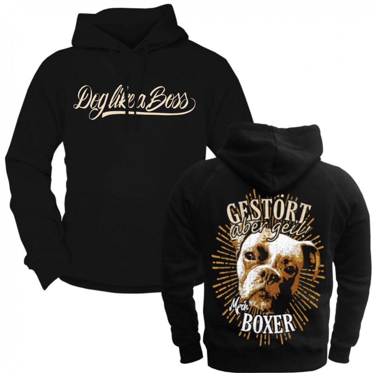 Kapuzenpul Lover hoodie Deutscher Boxer razza Molosser begleithunde PROTEZIONE CANI