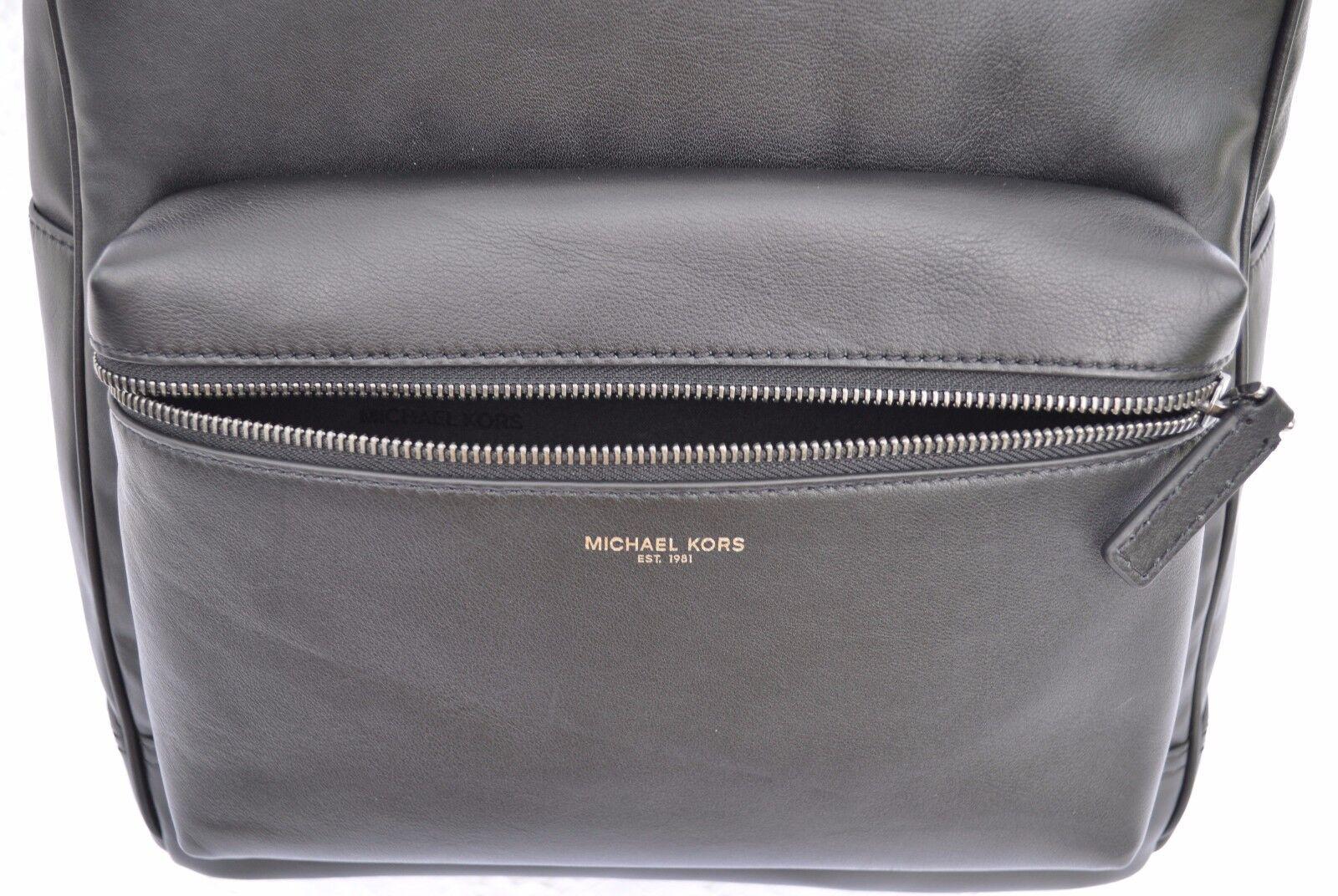 b239283b7e3e Michael Kors Men's Dylan Milled Italian Soft Leather Backpack Black for  sale online | eBay