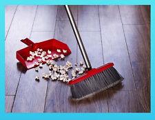 Stanley  Fuller Brush  Fiesta Red Kitchen Broom & Dustpan MPN A6821  -  Free S&H