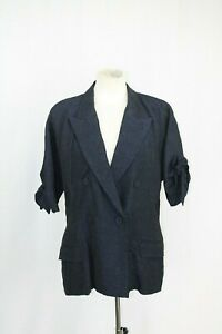 Crepe Jacket Summer Size eu42 Navy Jean uk14 Gaultier Paul q6E1U1Xw