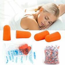 2001000 Pair Ear Plugs Set Orange Soft Foam Sleep Travel Shooting 32db Earplugs