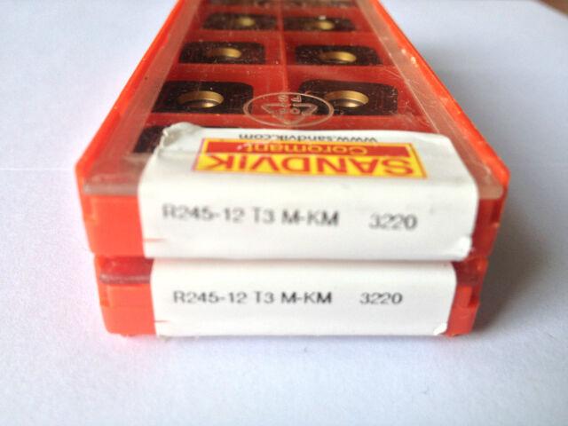SANDVIK  R245-12 T3  M-KM   3220       10PCS*  LOT OF