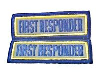 First Responder Reflective Patch Set Emt Ems 3 X 1 Embroidered Shoulder Patches