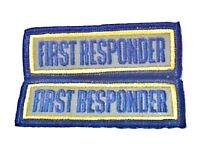 First Responder Reflective Patch Set Emt Ems 3 X 1 Embroidered Shoulder Patches