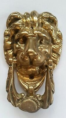 Victorian Antique Brass Door Knocker Lion Head Vintage Old Lions Gilt Leaf Ebay