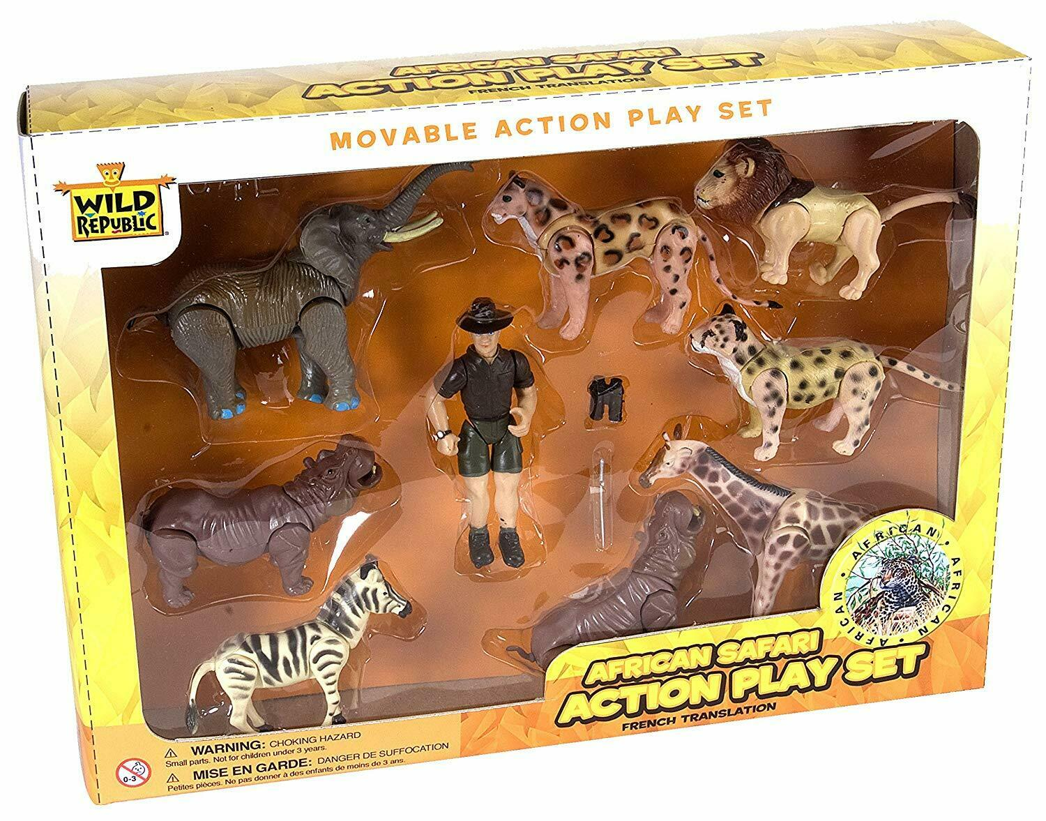 Wild Republic African Safari Animals Figures Set Animal Kids Eco Nature Zoo Toys