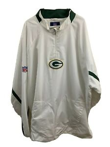 Mens-3XL-Reebox-1-4-Zip-Pullover-Green-Bay-Packers-Jacket-Windbreaker