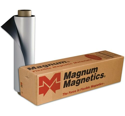 """1 ROLL 12/"""" width x 5 FEET 30 Mil Blank Magnetic Sign Sheet Cars Magnum Nextday"""