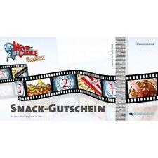4x MovieChoice SNACK-GUTSCHEIN - SNACK & GETRÄNK Kino Cinemaxx Cineplex Cinestar