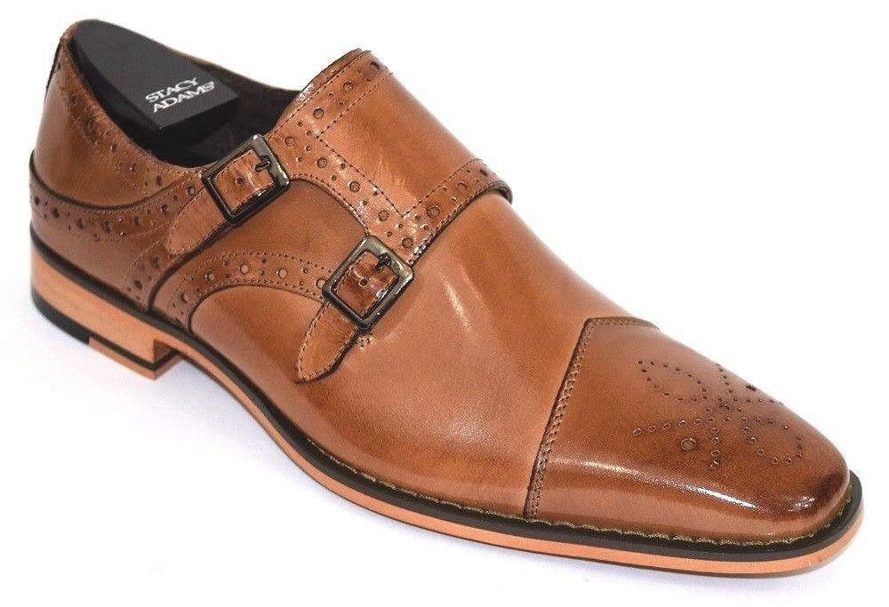 l'intera rete più bassa Uomo Dress scarpe Cap Toe Monk Strap Tan Leather STACY STACY STACY ADAMS TAYTON 25194  acquisto limitato