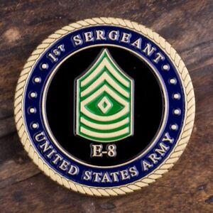 Army First Sergeant E8 Coin