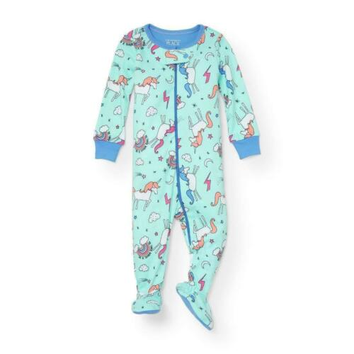 THE CHILDREN/'S PLACE 1PC UNICORN RAINBOW GIRL FOOTED STRETCHIE PJS 6-9M 18-24 3T