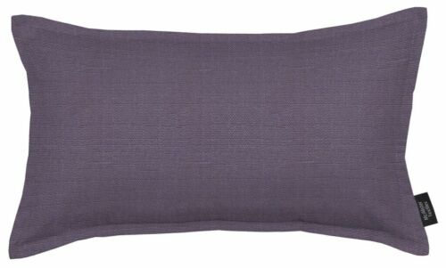 McAlister Textiles Savannah Plain Jacquard Decorative Aubergine Purple Cushion