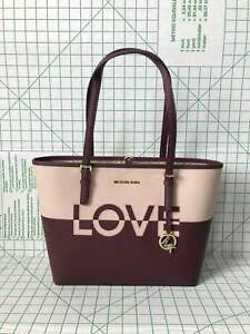 59c636bb7424cc Michael Kors Jet Set Travel Medium Carry All Leather Tote Bag in ...