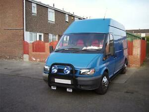 Bull Bar Round Driving Spot For 00 06 Ford Transit Mk6 Nudge