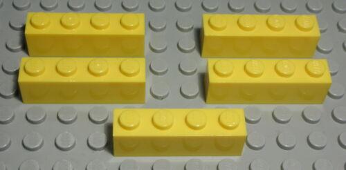330 Lego Stein 1x4 Gelb 5 Stück