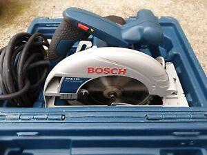 Bosch Gks 190 Circular Saw 110v Corded In A Case 190mm Blade 70mm Depth Of Cut Ebay