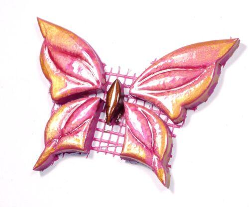 8 handmade Variante Mosaiksteine-SCHMETTERLING-Farbe:pink-gold