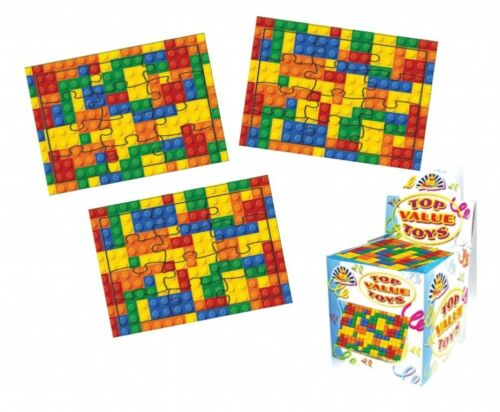 12 Lego Bricks mini jigsaw puzzles,.party bag toys,loot bag fillers,favours