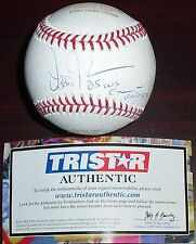 Ozzie Guillen Signed Inscribed '05 WS Champions Career Stat Baseball LE 1/1 TSP