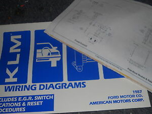 1987 LINCOLN CONTINENTAL AND MARK VII WIRING DIAGRAMS ...