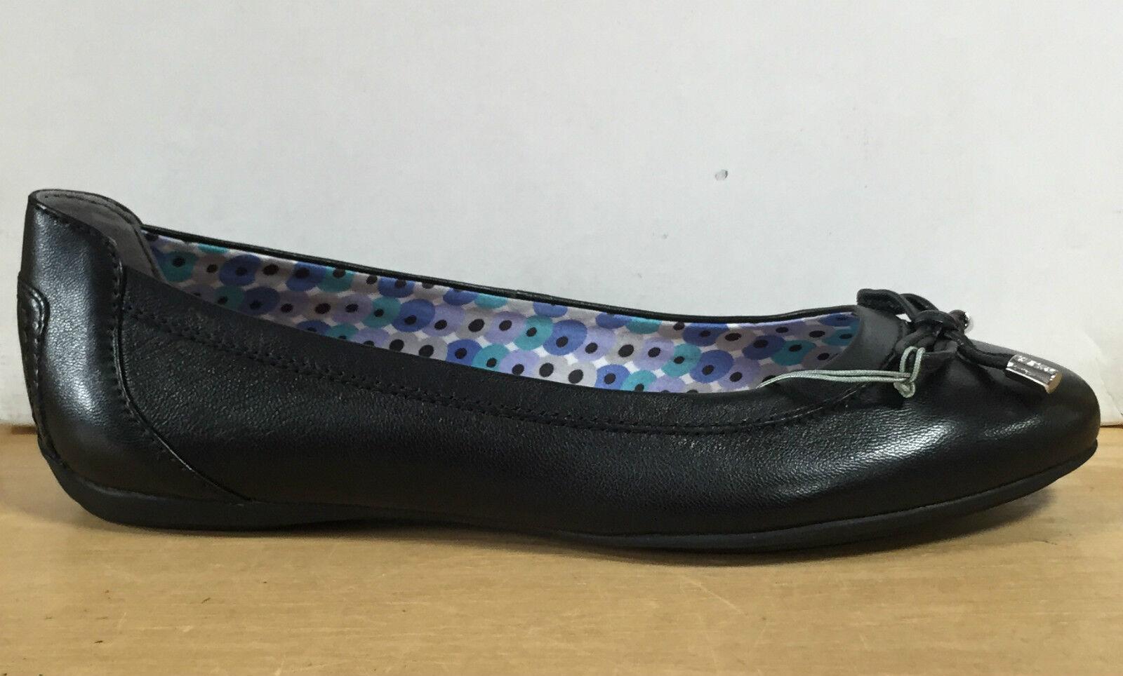 GEOX shoes women BALLERINE IN NAPPA black LINEA CHARLENE FONDO IN GOMMA D32Y7A