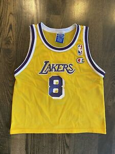 Details about Rare KOBE BRYANT #8 Los Angeles LA Lakers Champion Jersey Toddler L (7)