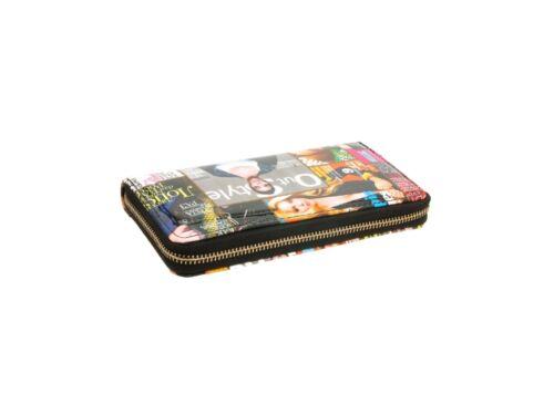 Multi Color Celebrity Style Parody Magazine Fashion Zipper Clutch Wallet Style 2