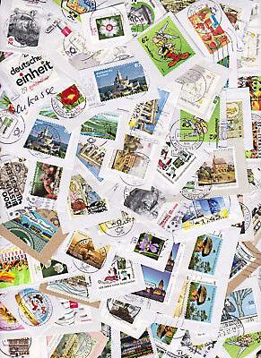 1 Kg Briefmarken Deutschland Auf Papier, Undurchsucht, Missionsware