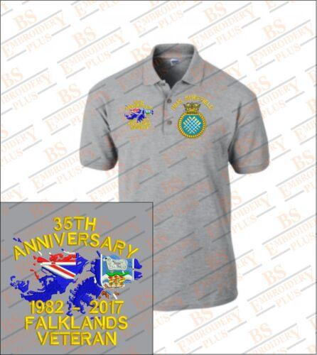 FALKLANDS VETERAN Embroidered Polo Shirts