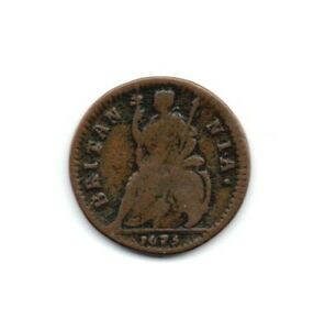 1675 Charles II One farthing Coin.