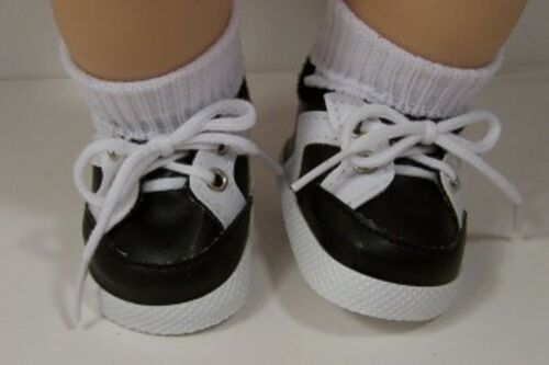 Debs BLACK Sporty Sport Tennis Doll Shoes For Bitty Baby Boy /& Girl /& Twins