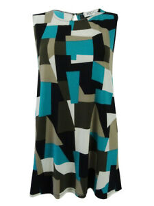 Kasper-Women-039-s-Plus-Size-Geometric-Print-Shell-Top