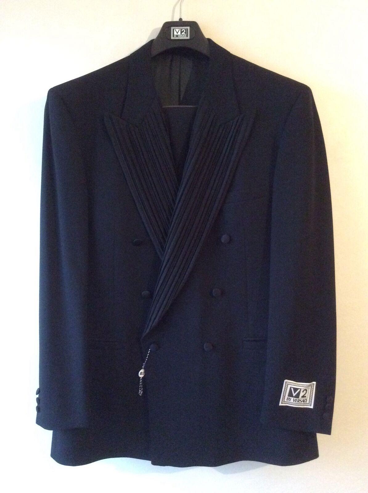 herren Designer Gianni Versace V2 Tuxedo Dinner Evening Suit Vintage Rare NOS