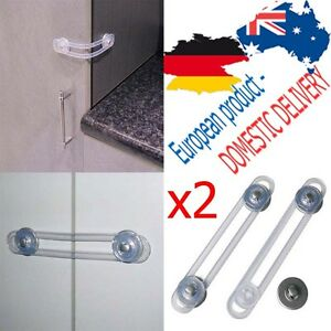 MULTI-PURPOSE-FUNCTIONAL-LOCK-Latch-Transparent-SAFETY-Fridge-Cabinet-Open-REER