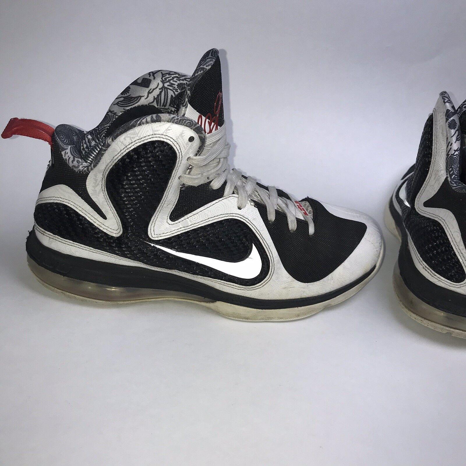 f126f0b5e812 Nike Lebron 9 IX Freegums White White White Black 469764-101 Men s Size 9  afaec1