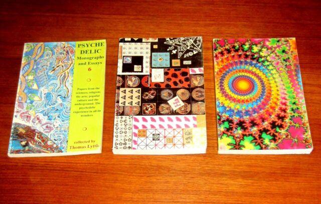 3 books PSYCHEDELIC MONOGRAPHS MDMA LSD Hofmann Leary Wasson Iboga DMT Ayahuasca