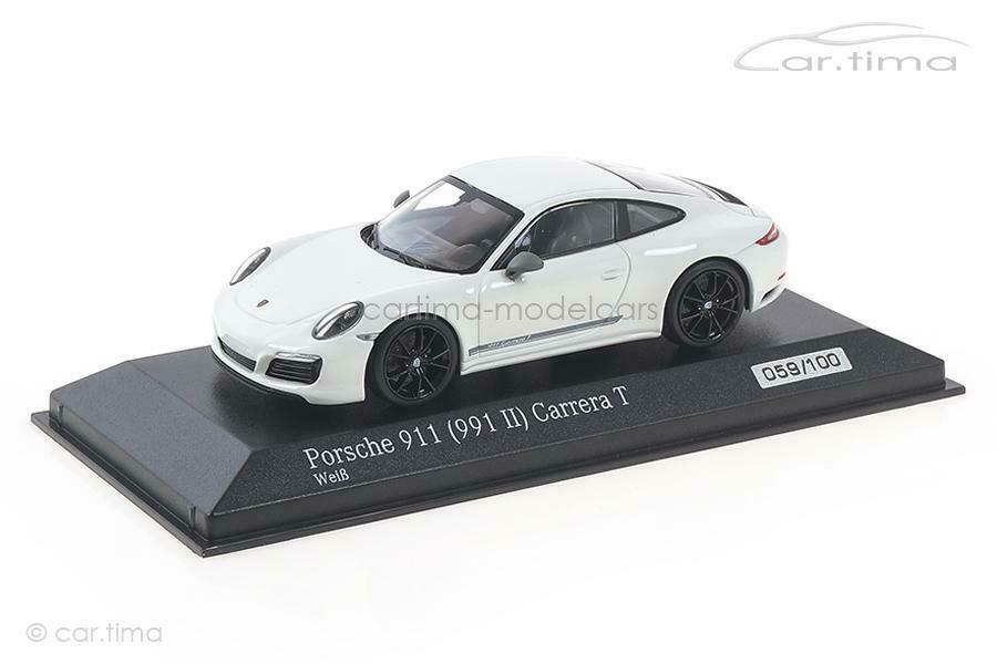 Porsche 911 (991 II) Carrera T - white   Rad black - Minichamps 1 43 - CA043190