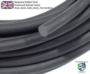 Rubber Cord O Ring Cord Neoprene Black Sponge 3mm 4mm